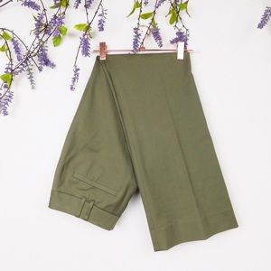 Lafayette 148 New York Green Pleated Career Pants